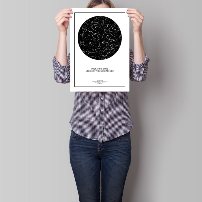 sternenkarte poster 40x30 cm