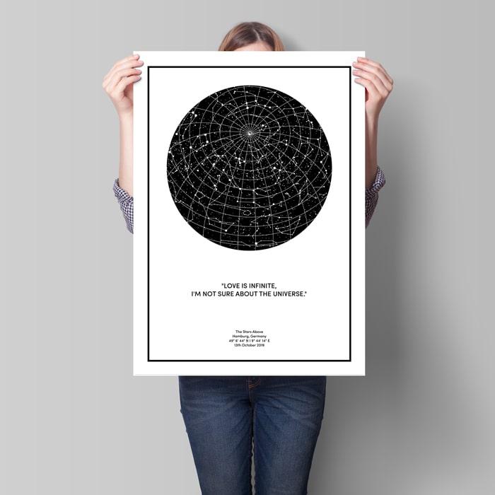 sternenkarte poster 70x50 cm